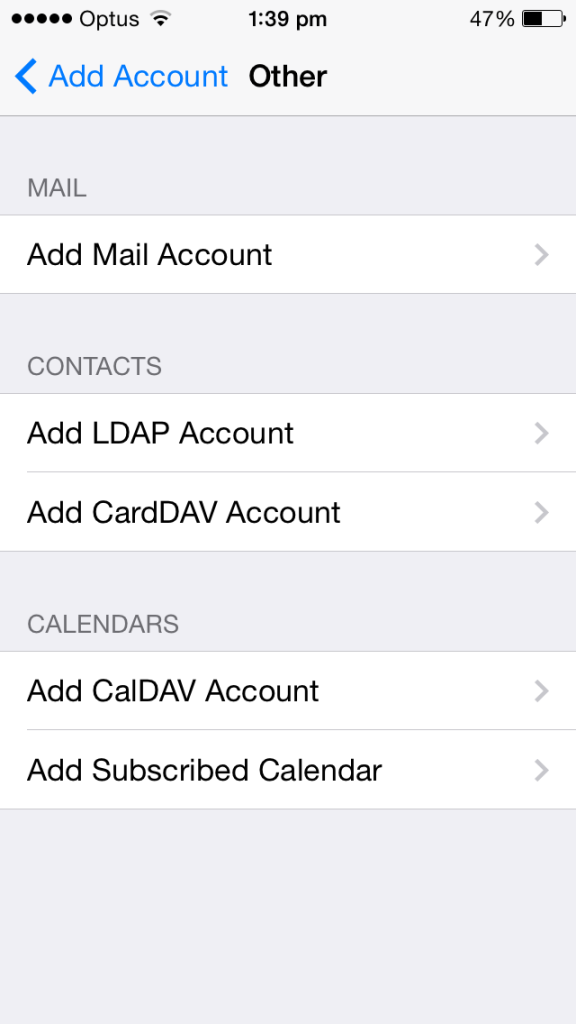 cloud telecom iphone email settings add account