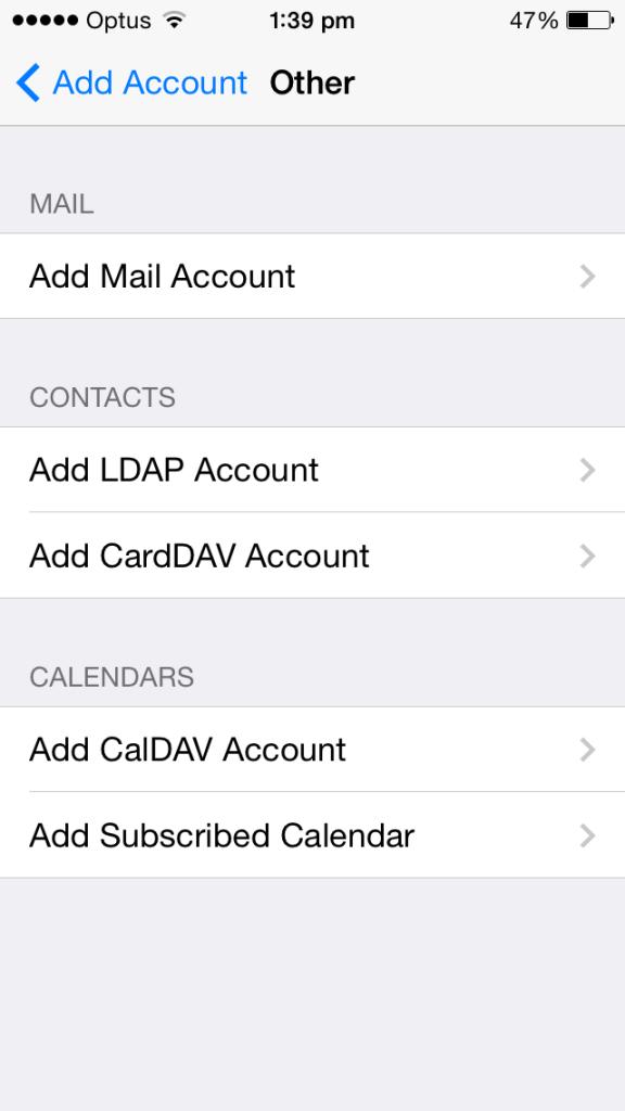 cloud telecom iphone email settings add account