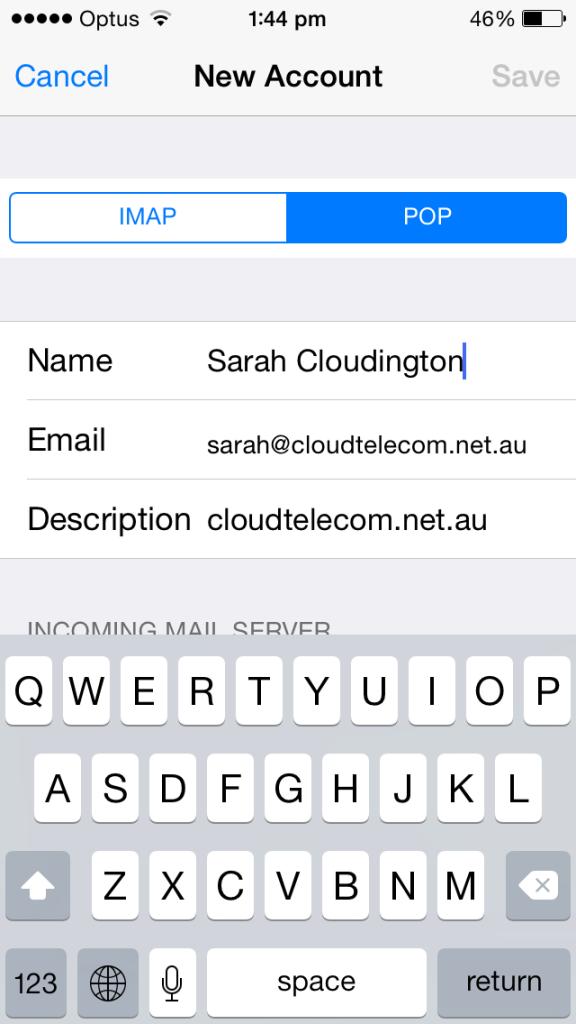 cloud telecom pop3 email