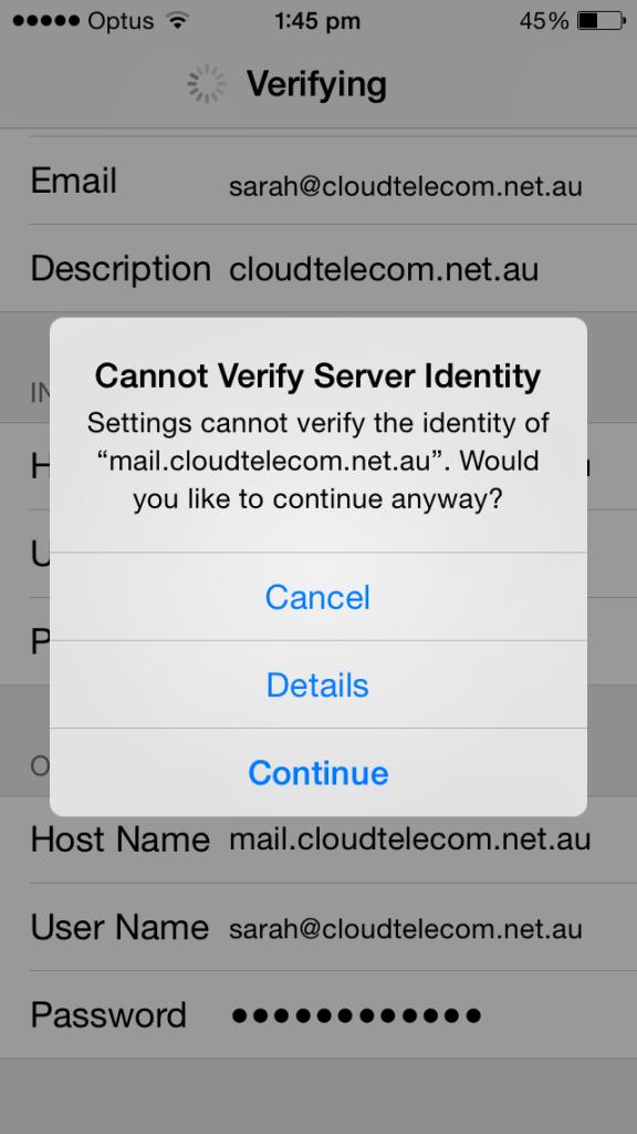 cloud telecom email setup